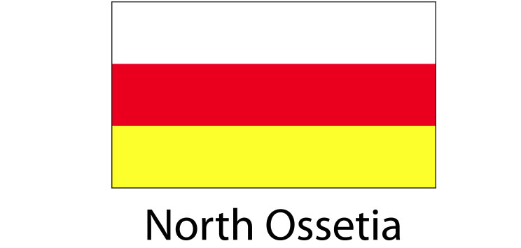 North Ossetia Flag sticker die-cut decals