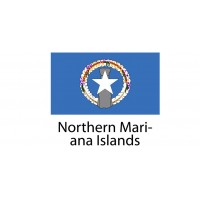 Northern Mariana Islands Flag sticker die-cut decals