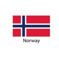 Norway Flag sticker die-cut decals