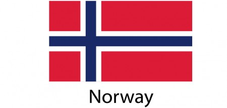 Norway Flag sticker die-cut decals