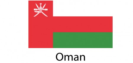 Oman Flag sticker die-cut decals