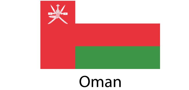 Oman Flag sticker die-cut decals