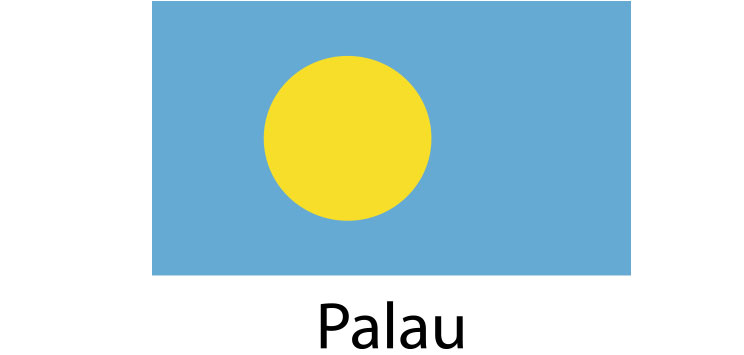 Palau Flag sticker die-cut decals