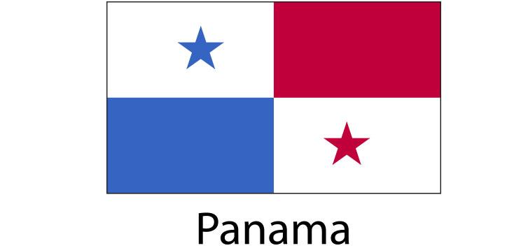 Panama Flag sticker die-cut decals