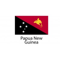 Papua New Guinea Flag sticker die-cut decals