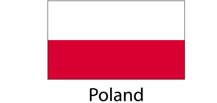 Poland Flag sticker die-cut decals