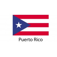 Puerto Rico Flag sticker die-cut decals