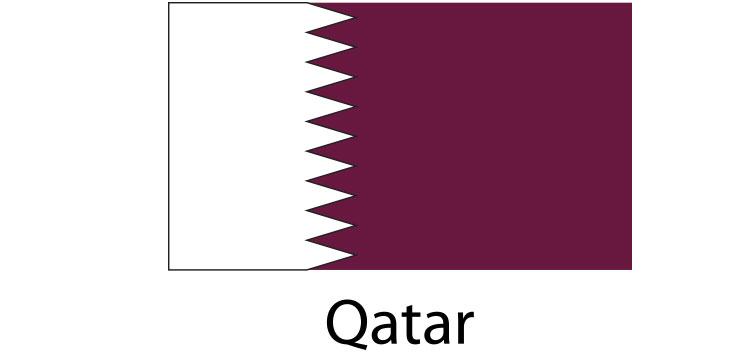 Qatar Flag sticker die-cut decals