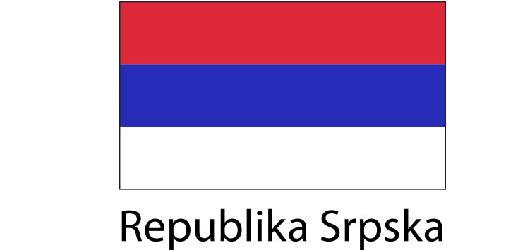 Republika Srpska Flag sticker die-cut decals