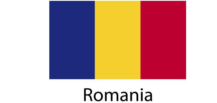 Romania Flag sticker die-cut decals