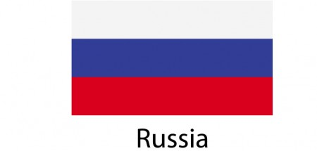 Rusia Flag sticker die-cut decals