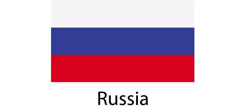 Rusia Flag sticker die-cut decals