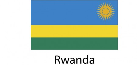 Rwanda Flag sticker die-cut decals