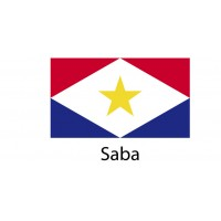 Saba Flag sticker die-cut decals