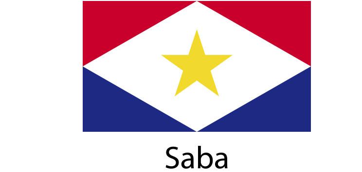 Saba Flag sticker die-cut decals