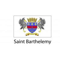 Saint Barthelemy Flag sticker die-cut decals