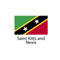 Saint Kitts and Nevis Flag sticker die-cut decals