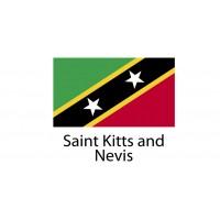 Saint Kitts and Nevis Flag sticker die-cut decals
