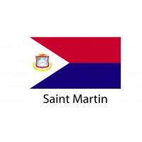 Saint Martin Flag sticker die-cut decals