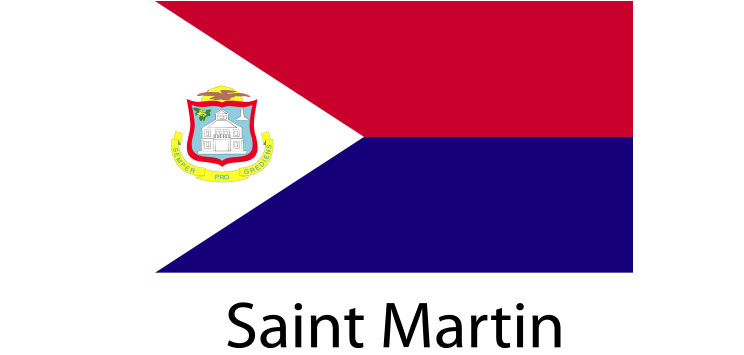 Saint Martin Flag sticker die-cut decals