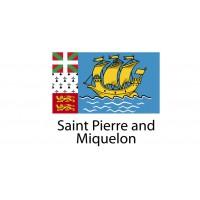 Saint Pierre and Miquelon Flag sticker die-cut decals