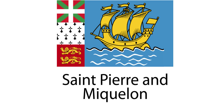 Saint Pierre and Miquelon Flag sticker die-cut decals
