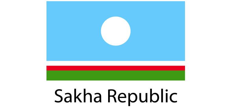 Sakha Republic Flag sticker die-cut decals