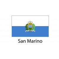 San Marino Flag sticker die-cut decals