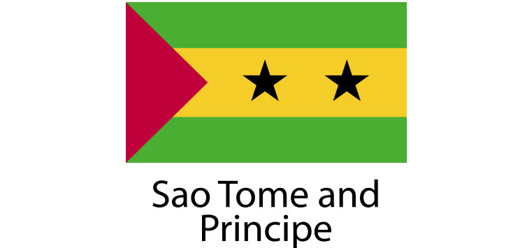 Sao Tome and Principe Flag sticker die-cut decals