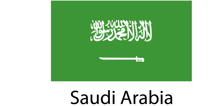 Saudi Arabia Flag sticker die-cut decals