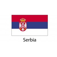 Serbia Flag sticker die-cut decals