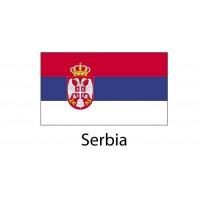 Serbia Flag sticker die-cut decals