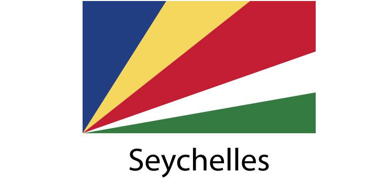 Seychelles Flag sticker die-cut decals