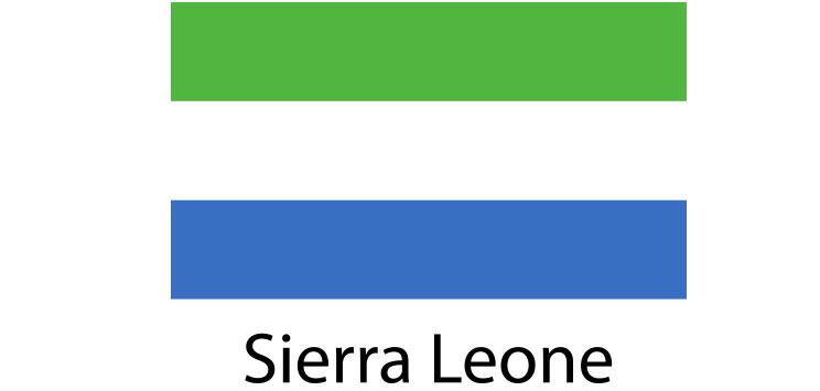 Sierra Leone Flag sticker die-cut decals