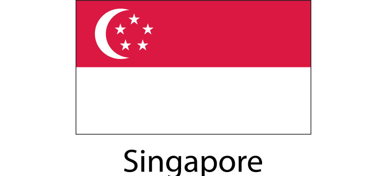 Singapore Flag sticker die-cut decals