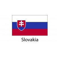 Slovakia Flag sticker die-cut decals