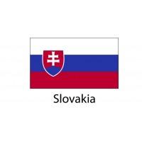 Slovakia Flag sticker die-cut decals