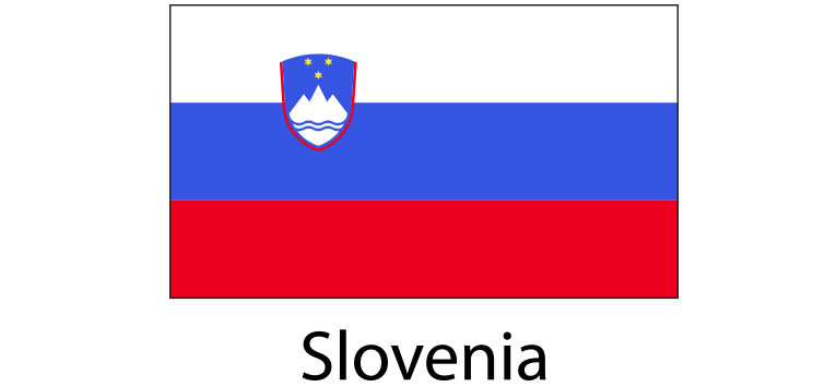 Slovenia Flag sticker die-cut decals