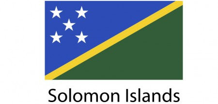 Solomon Islands Flag sticker die-cut decals