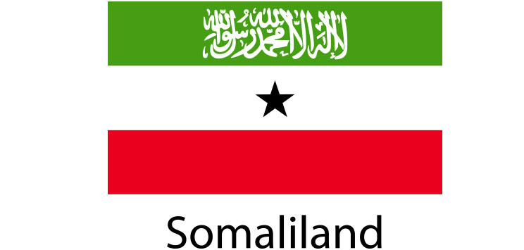 Somaliland Flag sticker die-cut decals