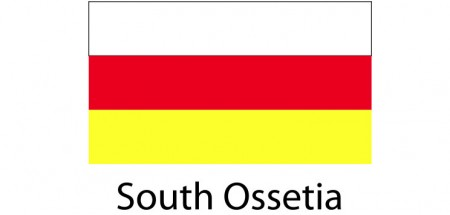 South Ossetia Flag sticker die-cut decals