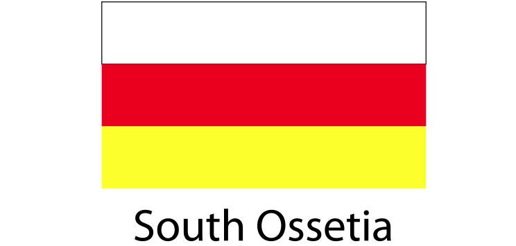 South Ossetia Flag sticker die-cut decals