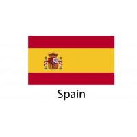 Spain (Espana) Flag sticker die-cut decals