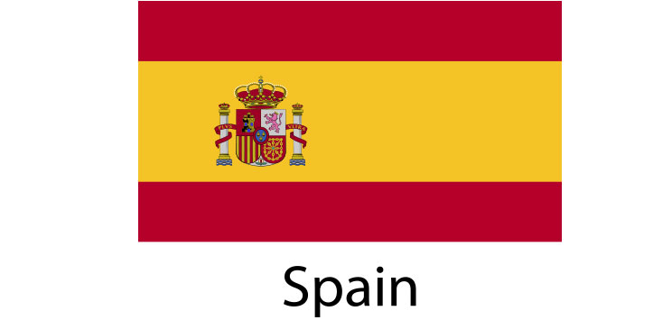 Spain (Espana) Flag sticker die-cut decals