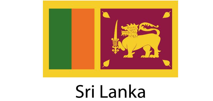 Sri Lanka Flag sticker die-cut decals