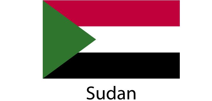 Sudan Flag sticker die-cut decals