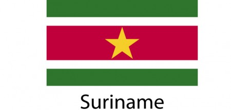 Suriname Flag sticker die-cut decals