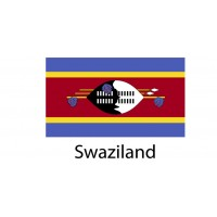 Swaziland Flag sticker die-cut decals