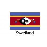 Swaziland Flag sticker die-cut decals