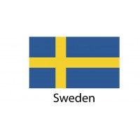Sweden Flag sticker die-cut decals